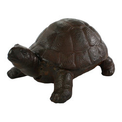 HomArt - Cast Iron Tortoise Sculpture - Decorate your home with the Cast Iron Tortoise Sculpture. Made from cast iron in a rust-colored finish, this sculpture makes a charming addition to both outdoor and indoor spaces. Display it on your desk or windowsill for an easy rustic look.