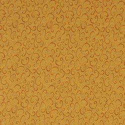 Gold Abstract Scrolls Contract Grade Upholstery Fabric By The Yard - P4952 is great for residential, commercial, automotive and hospitality applications. This contract grade fabric is Teflon coated for superior stain resistance, and is very easy to clean and maintain. This material is perfect for restaurants, offices, residential uses, and automotive upholstery.