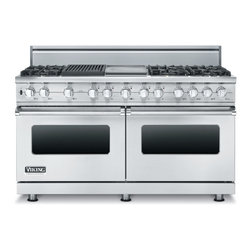 "Viking 60"" Pro-style Dual-fuel Range, Stainless Liquid Propane 