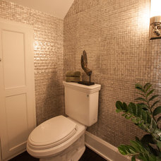Transitional Powder Room by Key Residential
