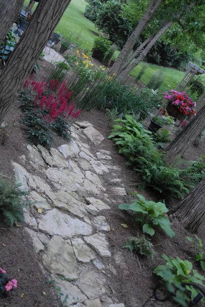 Traditional Landscape by Inside Out Design, LLC