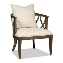 Hooker Furniture - Decorator Chair - Accent Chair 26 - White glove, in-home delivery!  For this item, additional shipping fee will apply.  Fabric: Eastbrook Barley