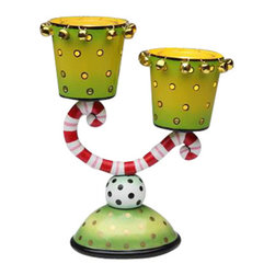 ATD - 8.25 Inch Multicolored Two Cup Candle Holder with Gold Tone Bells - This gorgeous 8.25 Inch Multicolored Two Cup Candle Holder with Gold Tone Bells has the finest details and highest quality you will find anywhere! 8.25 Inch Multicolored Two Cup Candle Holder with Gold Tone Bells is truly remarkable.