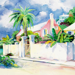 Murals Your Way - Island Gate Wall Art - Painted by Paul Brent, the Island Gate wall mural from Murals Your Way will add a distinctive touch to any room