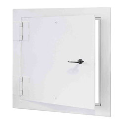 """Best Access Doors - High Security Access Door with Detention, 18""""x18"""" - 18"""" x 18"""" High Security Access Door with Detention  The BA-SD-6000 is a heavy duty access door designed for use in high security areas. The angle frame construction and 10 gage plate door panel makes this access door ideal for prisons, correctional facilities, housing projects etc. Our standard security butt hinges are surface welded to the door and frame, allowing the door panel to operate freely. A detention type deadbolt lock with paracentric key is standard."""