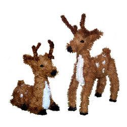 """Vickerman - Reindeer Set Standing and Resting (14"""") - 14"""" Reindeer Set: One Standing and One Resting Reindeer"""