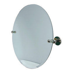 Allied Brass - Round Beveled-edge Bathroom Tilt Wall Mirror - Enhance your bathroom decor with a beautiful round mirrorTilt mirror measures 22 inches in diameterBathroom accessory is finished with a beveled edge