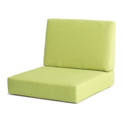 Zuo Modern - Armchair Cushion in Green - UV and water resistant. Warranty: One year. Made from fabric. No assembly required. 31.9 in. W x 27.6 in. D x 30.7 in. H (6.8 lbs.)