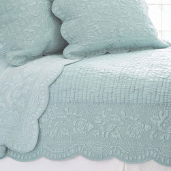 Pine Cone Hill - fanny quilt/sham set (dusty blue) - This item comes in��dusty blue.��This item size is��various sizes.