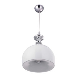 Bromi Design - Bromi Design Stamford White Lighting Pendant - Contemporary and oh-so cool, this pendant casts light in the right direction. It looks fabulous hung in multiples, but also has enough presence to shine solo.