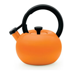 Circulon - Circulon Carbon Steel 2-qt. Circles Teakettle - 56591 - Shop for Kettles (Stovetop) from Hayneedle.com! With its ultra-modern design and vibrant color options the Circulon Carbon Steel 2-qt. Circles Teakettle dresses your stovetop in style. A contemporary beauty this teakettle holds 8 cups/2 quarts and does it with panache. This kettle is made of carbon steel and is backed by a lifetime limited warranty from the manufacturer.About CirculonCirculon's gourmet nonstick cookware is engineered to make home cooking fast easy healthy and delicious. In 1985 Circulon revolutionized the industry by introducing the first hard-anodized nonstick cookware. Their patented TOTAL Food Release System creates Circulon's signature circular groove pattern on the cooking surface which reduces the amount of nonstick that comes into contact with cooking utensils for reduced abrasion and superior durability. Combined with the most advanced nonstick coating from DuPont this innovative technology is also dishwasher-safe and induction-suitable. New cooks and seasoned chefs alike will be satisfied with Circulon cookware for a lifetime - guaranteed.