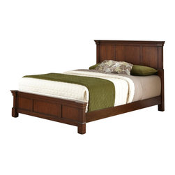Home Styles - Home Styles Aspen Bed in Rustic Cherry-Queen - Home Styles - Beds - 5520500 - Create ambiance with a perfect balance of warmth and style with The Aspen Collection Bed by Home Styles. The Headboard and Footboard encapsulates distinguished Americana style.