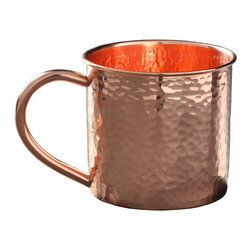 Custom Copper Mugs, LLC - Hammered Copper Mug, 14oz - Our Hammered Moscow Mule Mugs are constructed of 100% pure copper and hand hammered for a unique touch. We apply a food-safe lacquer  that resists tarnishing for lasting beauty and luster. The mug of choice when serving the infamous Moscow Mule--a cocktail made from a blend of vodka, ginger beer, and lime juice. The copper mug enhances the flavor and keeps the drink colder, longer.