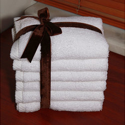 None - Authentic Hotel and Spa Plush Soft Twist Turkish Cotton White Washcoth (Set of 6 - Make your bathroom feel like a world-class spa with this set of six Turkish washcloths. These wash cloths boast a soft twist construction and are super absorbent. The crisp white color and tonal stitching makes these wash cloths elegant and luxurious.