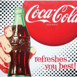 "Westland - Coca-Cola ""Refreshes You Best"" Canvas Wall Art Hanging with Bottle - This gorgeous Coca-Cola ""Refreshes You Best"" Canvas Wall Art Hanging with Bottle has the finest details and highest quality you will find anywhere! Coca-Cola ""Refreshes You Best"" Canvas Wall Art Hanging with Bottle is truly remarkable."