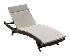 Great Deal Furniture - Lakeport Outdoor Adjustable Chaise Lounge Chair - We guarantee that you have never seen a more beautiful chaise lounge chair than the Lakeport Outdoor Adjustable Chaise Lounge Chair. This chaise lounge chair is weather-resistant and has an adjustable angle back and folding legs for easy stacking. Its natural colors combine with its exotic styling to create a one-of-a-kind design that is perfectly suited for use beside a pool. The smooth, soft wicker is weather resistant and is carefully and meticulously crafted and shaped to form gorgeous curves that not only look great, but also seemingly wrap to your body, creating a luxurious escape to peace and quiet. The chair is absolutely ideal for sunbathing