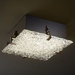 Veneto Luce Lace Glass Clips Flushmount by Justice Design Group -
