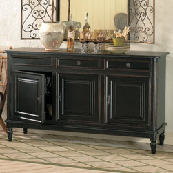Dehaviland 3-Drawer Console - The Dehaviland Console will spoil you with all its great storage.  From the roomy cabinetry below to the three drawers above, this piece has loads of space for large serving pieces, napkin rings, flatware and those items you need for everyday use or when entertaining.