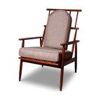 Danish Modern Arm Chair - 37 h x 26.5 w x 32 d