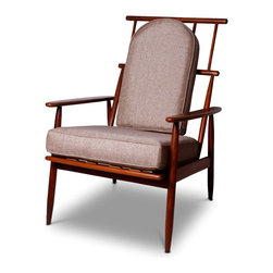Danish Modern Arm Chair - 37 h x 26.5 w x 32 d