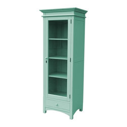EuroLux Home - New Tall Boy Chest of Drawers Blue Painted - Product Details