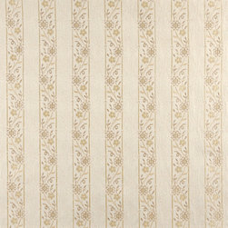 Ivory Embroidered Striped Floral Brocade Upholstery Fabric By The Yard - This beautiful traditional brocade fabric is luxury at its finest. This fabric is very durable while also providing the look of elegance to any space.