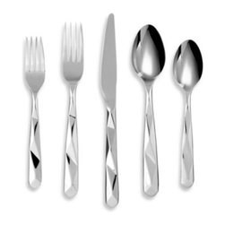 Cambridge - Cambridge Silversmiths Facet Mirror 20-Piece Flatware Set - Cambridge Silversmiths Facet Mirror offers glistening, faceted flatware inspired by the ancient art of origami. Provides a clean and simple look that is appropriate for entertaining and everyday casual use.