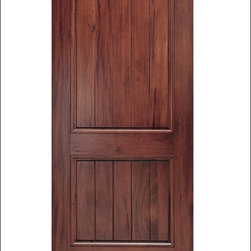MAI - Walnut Entry Door Model #  A79P-ER - These doors are constructed from an Andean Walnut.  They are not only beautiful they are also customizable.  You can add items like Calvos, Speakeasys, Straps and Crossbucks to these doors for a perfect match to your homes existing characteristics.  For more information, please feel free to contact Doors4Home where one of our sales associates can help you customize the perfect door.