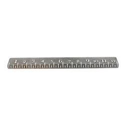 "HomArt - 12"" Cast Iron Ruler - Decorate your desk with the handy 12-inch Cast Iron Ruler. Its features include a distressed black finish and raised white text. Pair it with industrial decor for a cohesive look."
