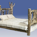 Montana Woodworks - Glacier Country Log Character Bed (Twin) - Choose Size: TwinUnique and unusual appearance. 20 years limited warranty. Made from solid American grown wood. Hand-crafted in the US, each Montana Woodwork product is made from unprocessed, solid wood that highlights the character of its source tree with unique knots and grains. Made in USA. Assembly required. Please allow 10 to 15 business days. Twin Bed: 87 in. L x 46 in. W x 56 in. H. Full Bed: 87 in. L x 60 in. W x 56 in. H. Queen Bed: 94 in. L x 66 in. W x  56 in. H. Eastern King Bed: 94 in. L x 80 in. W x 56 in. H. California King Bed: 98 in. L x 76 in. W x  56 in. HThis bed truly has character. The artisans at Montana Woodworks select each log used to make this bed for its unique and unusual appearance. The result an incredible, one-of-a-kind log bed that all your friends are sure to envy.  All Montana Woodworks furniture is designed and built to last a lifetime, ensuring you an heirloom quality item that can be handed down from generation to generation.