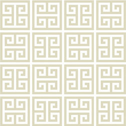Jonathan Adler Greek Key Wallpaper, Taupe - I don't think there is anyone that doesn't favor the Greek key pattern. I love it in this subtle colorway.