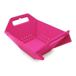 "Joseph Joseph - Folding Colander - Pink - Arent kitchens always pressed for space? The multiple functions of this clever design are too hard to pass up when we are talking about efficient use of space. We call it a colander but it could also be a bread basket or fruit basket. Take it out on your patio down to your boat or for a spin in your RV. Its lightACweight folds flat for storage and snaps together easily- time and time again. Dishwasher safe polypropylene.Flat: 16 1/2""L x 12 3/""D x 1/2""HFolded: 10 3/4""L x 8 1/4""D x 5 1/2""H"