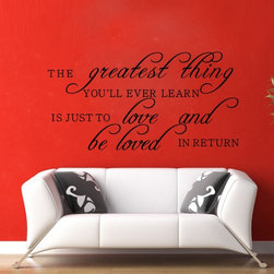 ColorfulHall Co., LTD - Love Wall Quote Love And Be Loved In Return, Black - Love Wall Quote Love And Be Loved In Return