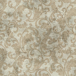 York Wallcoverings - PS3844 Wallpaper, Sample - Prepasted: Paste has already been applied to the back of the wallpaper and is activated with water.