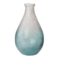 Lazy Susan - Lazy Susan 876001 Ombre Glacier Teardrop Vase - This vase is beautiful enough to stand alone. Or fill it with your favorite stems and put it on a shelf in your bathroom. You could also use it as a water carafe at your next dinner party.