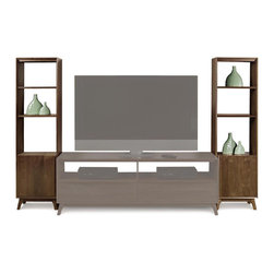 "Copeland Furniture - Copeland Furniture Catalina Bookcases 5-CAL-55-04 - Catalina media and occasional pieces include two TV stands (66"" or 53"") designed with wire management to organize your home entertainment equipment that is complemented by optional bookcases (sold seperately)."