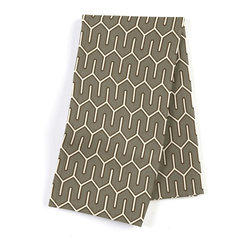 Taupe Geometric Custom Napkin Set - Our Custom Napkins are sure to round out the perfect table setting'whether you're looking to liven up the kitchen or wow your next dinner party. We love it in this modern maze of taupe & white on soft cotton sateen.