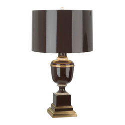 Robert Abbey - Robert Abbey Mary McDonald Annika Accent Lamp 2506 - Chocolate Lacquered Paint and Natural Brass