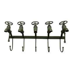 n/a - Five Hook 'Water Faucet' Coat Hanger - *** FREE SHIPPING !!! ***