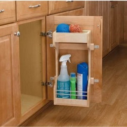 Rev-a-Shelf Door Storage Cleaning Organizer - About Rev-A-ShelfRev-A-Shelf a Jeffersontown Kentucky-based company has been dedicated to the creation of innovative useful residential cabinet storage and organization products since 1978. The company manufactures a wide variety of functional products such as lazy susans kitchen drawer organizers and childproof locking systems. A global market leader Rev-A-Shelf is known for its superior quality and versatility.