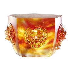 LiuliGongfang - LiuliGongfang Crystal Paperweight Wealth - Unite For Five Paths Of Fortune - LiuliGongFang