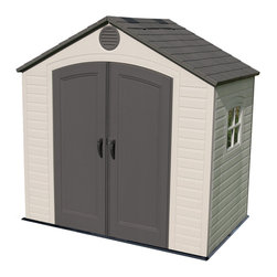 Lifetime - Lifetime Storage Shed (8' x 5') - Safely store garden items in this handsome shed from LifetimeGive your property a clean and organized look with this storage shedThis shed is reinforced with US-made steel for longevity
