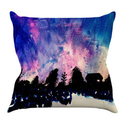 """Kess InHouse - Theresa Giolzetti """"First Snow"""" Purple Blue Throw Pillow (16"""" x 16"""") - Rest among the art you love. Transform your hang out room into a hip gallery, that's also comfortable. With this pillow you can create an environment that reflects your unique style. It's amazing what a throw pillow can do to complete a room. (Kess InHouse is not responsible for pillow fighting that may occur as the result of creative stimulation)."""
