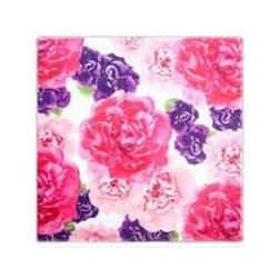 Floral Art Dinner Napkins- Peony Pattern - Floral Art Cotton Dinner Napkins- Peony Pattern