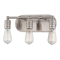 Minka Lavery - Minka Lavery 5135 3 Light Bathroom Vanity Light from the Downtown Edison Collect - Three Light Bathroom Vanity Light from the Downtown Edison CollectionFeatures: