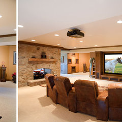 traditional media room by Martin Bros. Contracting, Inc.