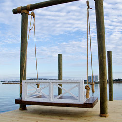 """Outdoor Daybed Swing - Dimensions are 44""""x77"""" and is made for indoor/outdoor usage. Comes with rope and hardware. We ship all over the United States. Order yours from www.saltairerestoration.com"""