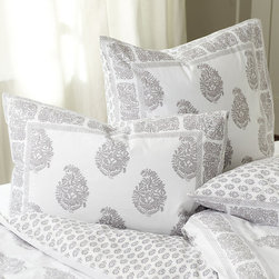 Ballard Designs - Ava Block Print Duvet Cover - Lavender King - Coordinates with our Ava Block Print Sham, Quilt & Shower Curtain. Extra deep envelope closure. Reverses to coordinating print. hidden button closure. Machine washable. Our Ava Block Print Bedding adds a global feel to your bedroom. The hand finished Duvet is in a soft 200 thread count cotton percale in your choice of four colors. Each color has its own pattern designed to mix and match with all the others. Ava Block Print Duvet Cover features:. . . . .