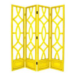 Wayborn - Wayborn Charleston Room Divider in Yellow - Wayborn - Room Dividers - 2295Y -