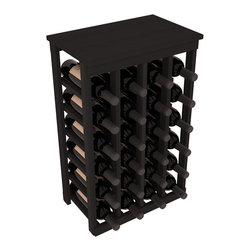 Wine Racks America - 24 Bottle Kitchen Wine Rack in Premium Redwood, Black Stain - Petite but strong, this small wine rack is the best choice for converting tiny areas into big wine storage. The solid wood top excels as a table for wine accessories, small plants, or whatever benefits the location. Store 2 cases of wine in a space smaller than most televisions!